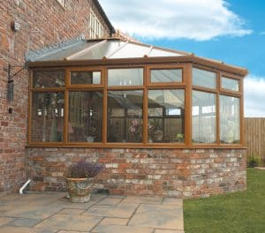 3 Bell victorian conservatory in woodgrain