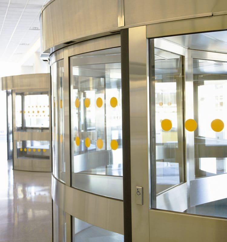 Automatic revolving doors turnstiles dt fixing services