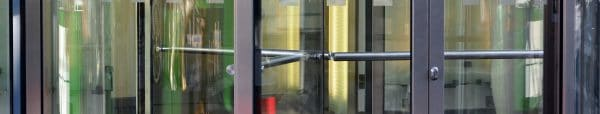 Commercial revolving doors