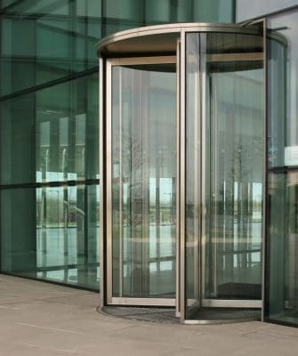 Glass revolving doors