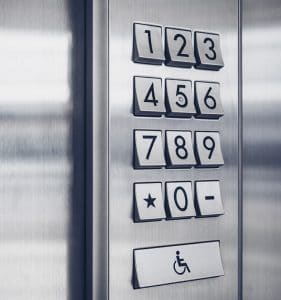 Keypad door access