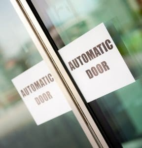 Installation of automatic doors