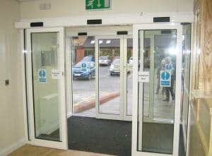 Sliding automatic doors
