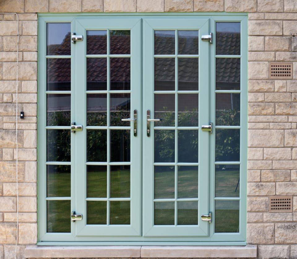 Durable doors in milton keynes bedford dt fixing for Green french doors