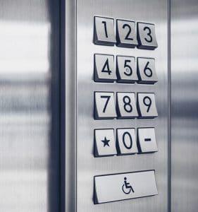 Keypad door access
